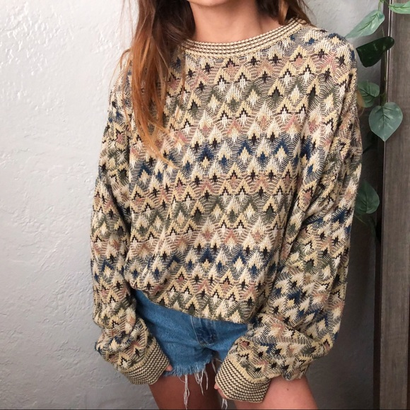 Vintage Sweaters - 🎁SALE VTG knitted slouchy crewneck